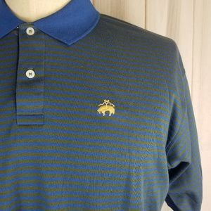 NWT Brooks Brothers Striped Golden Fleece polo xl